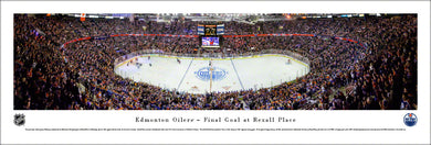 Edmonton Oilers Rexall Place Final Game Panoramic Picture