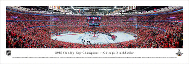Chicago Blackhawks 2015 Stanley Cup Champions Panoramic Picture