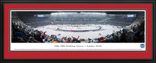 Framed double red matte panorama 2014 Stadium Series Blackhawks vs. Penguins - Sports Fanz