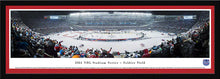 NHL fan gear framed red matte panorama 2014 Stadium Series Blackhawks vs. Penguins - Sports Fanz