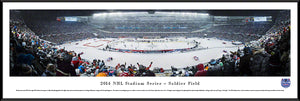 NHL fan gear framed panorama 2014 Stadium Series Blackhawks vs. Penguins - Sports Fanz