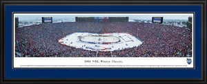 Framed, double blue matte panorama 2014 Winter Classic Maple Leafs vs. Red Wings - Sports Fanz
