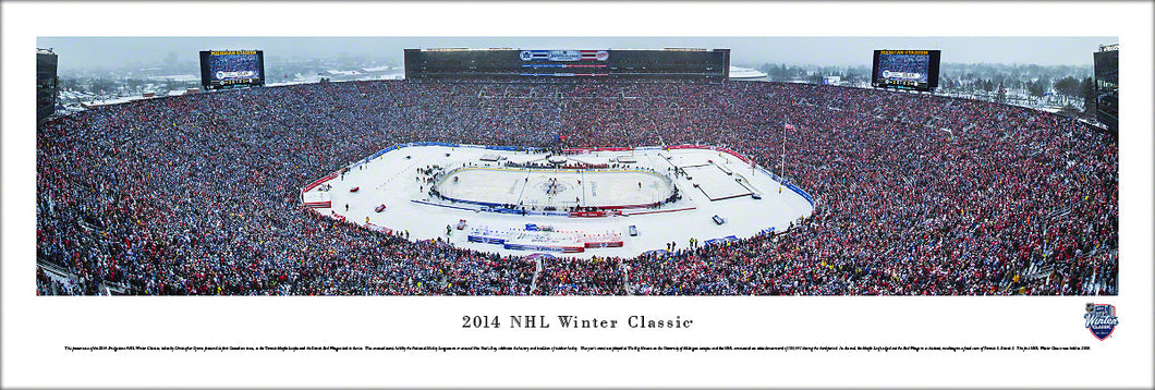 2014 NHL Winter Classic Toronto Maple Leafs vs. Detroit Red Wings Panoramic Picture