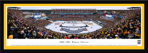 NHL fan gear framed, yellow matte panorama 2016 Winter Classic Bruins vs. Candiens - Sports Fanz