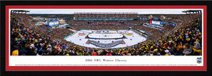 NHL fan gear framed, red matte panorama 2016 Winter Classic Bruins vs. Candiens - Sports Fanz