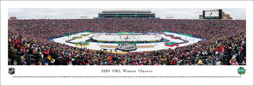 NHL fan gear unframed panorama 2019 Winter Classic Bruins vs. Blackhawks - Sports Fanz
