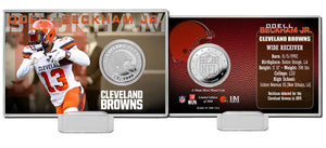 Odell Beckham Jr Cleveland Browns Silver Coin Card