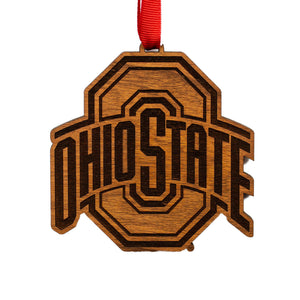 Ohio State Buckeyes Wood Ornament