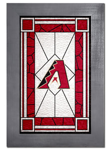 Arizona Diamondbacks Stained Glass Wood Sign