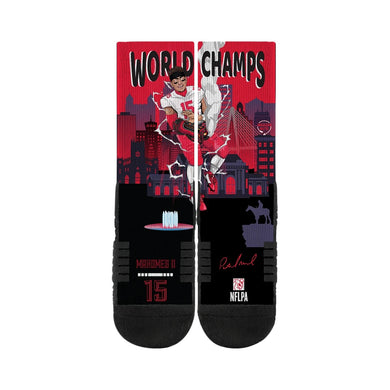 Patrick Mahomes Kansas City Chiefs Super Bowl 54 Champions Socks