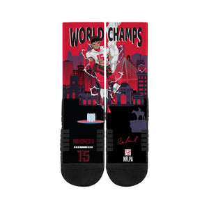 Patrick Mahomes Kansas City Chiefs World Champions Youth Crew Socks