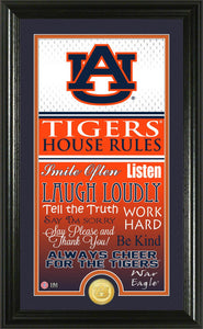 Auburn Tigers House Rules Bronze Coin Panoramic Photo Mint