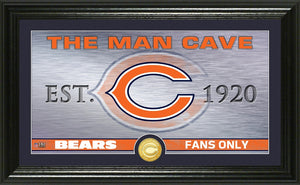 Chicago Bears Man Cave Panoramic Bronze Coin Photo Mint