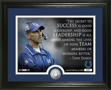 Tony Dungy Indianapolis Colts Quote Bronze Coin Photo Mint
