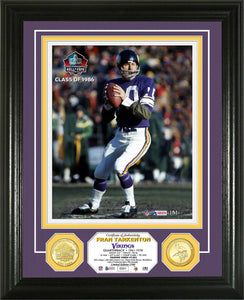 Fran Tarkenton Minnesota Vikings Pro Football Hall of Fame Bronze Coin Photo Mint
