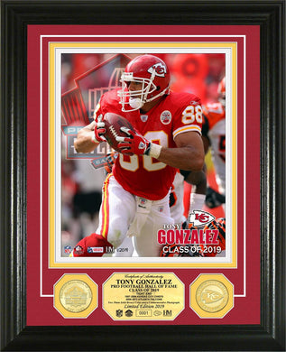 Tony Gonzalez Kansas City Chiefs Hall of Fame 2019 Bronze Coin Photo Mint