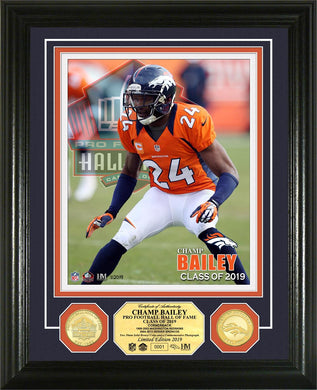 Champ Bailey Denver Broncos Hall of Fame 2019 Bronze Coin Photo Mint