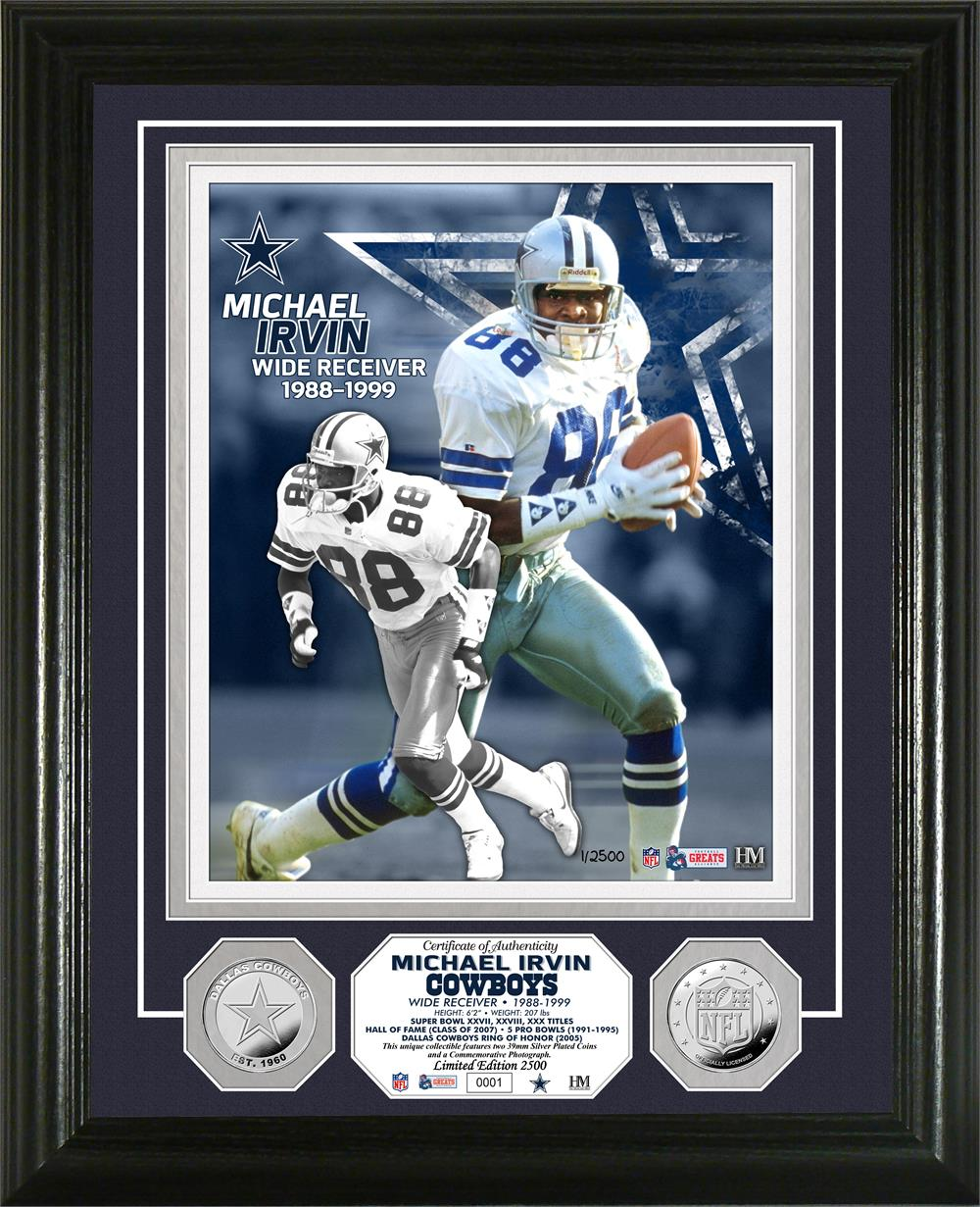 Michael Irvin Dallas Cowboys Silver Coin Photo Mint