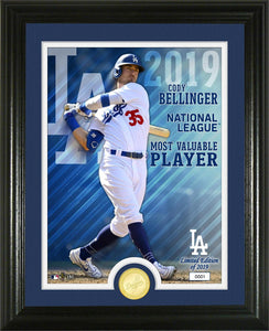 Cody Bellinger Los Angeles Dodgers 2019 NL MVP Bronze Coin Photo Mint