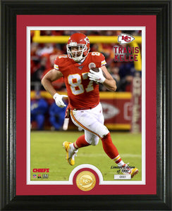Travis Kelce Kansas City Chiefs Bronze Coin Photo Mint