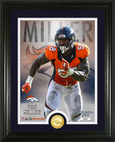 Von Miller Denver Broncos Single Bronze Coin Photo Mint