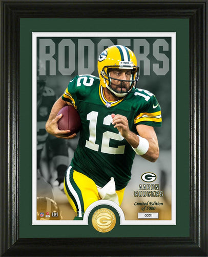 Aaron Rodgers Green Bay Packers Bronze Coin Photo Mint