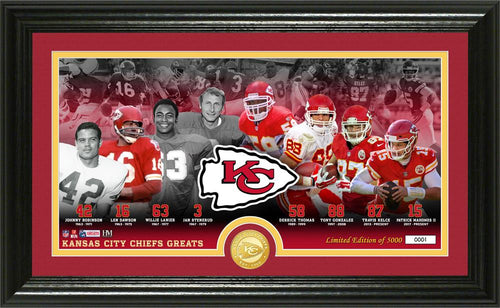 Kansas City Chiefs Franchise Greats Panoramic Bronze Coin Photo Mint