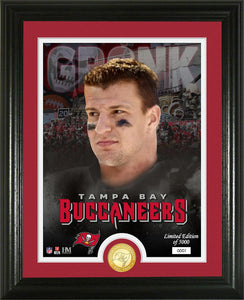 Rob Gronkowski Tampa Bay Buccaneers Bronze Coin Photo Mint
