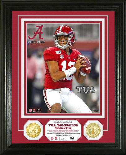Tua Tagovailoa Alabama Crimson Tide Bronze Coin Photo Mint