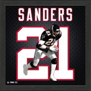 Deion Sanders Atlanta Falcons Jersey Number Frame