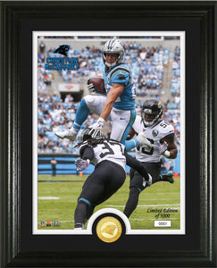Christian McCaffrey Carolina Panthers Bronze Coin Photo Mint