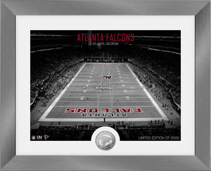 Atlanta Falcons Art Deco Stadium Silver Coin Photo Mint
