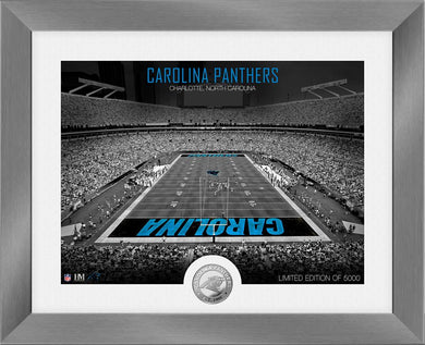 Carolina Panthers Art Deco Stadium Silver Coin Photo Mint