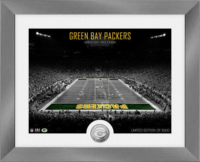 Green Bay Packers Art Deco Stadium Silver Coin Photo Mint