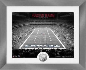 Houston Texans Art Deco Stadium Silver Coin Photo Mint