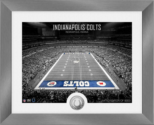 Indianapolis Colts Art Deco Stadium Silver Coin Photo Mint