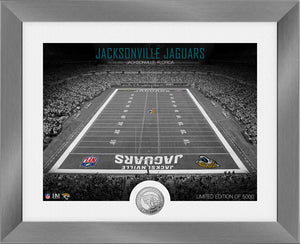 Jacksonville Jaguars Art Deco Stadium Silver Coin Photo Mint