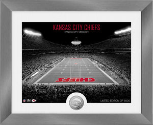 Kansas City Chiefs Art Deco Stadium Silver Coin Photo Mint