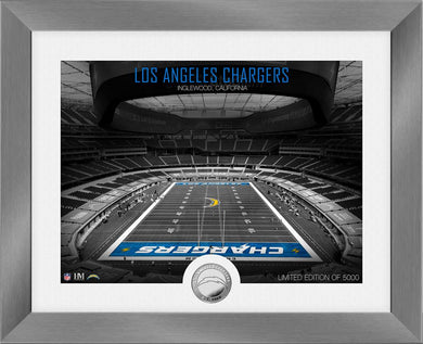 Los Angeles Chargers Art Deco Stadium Silver Coin Photo Mint