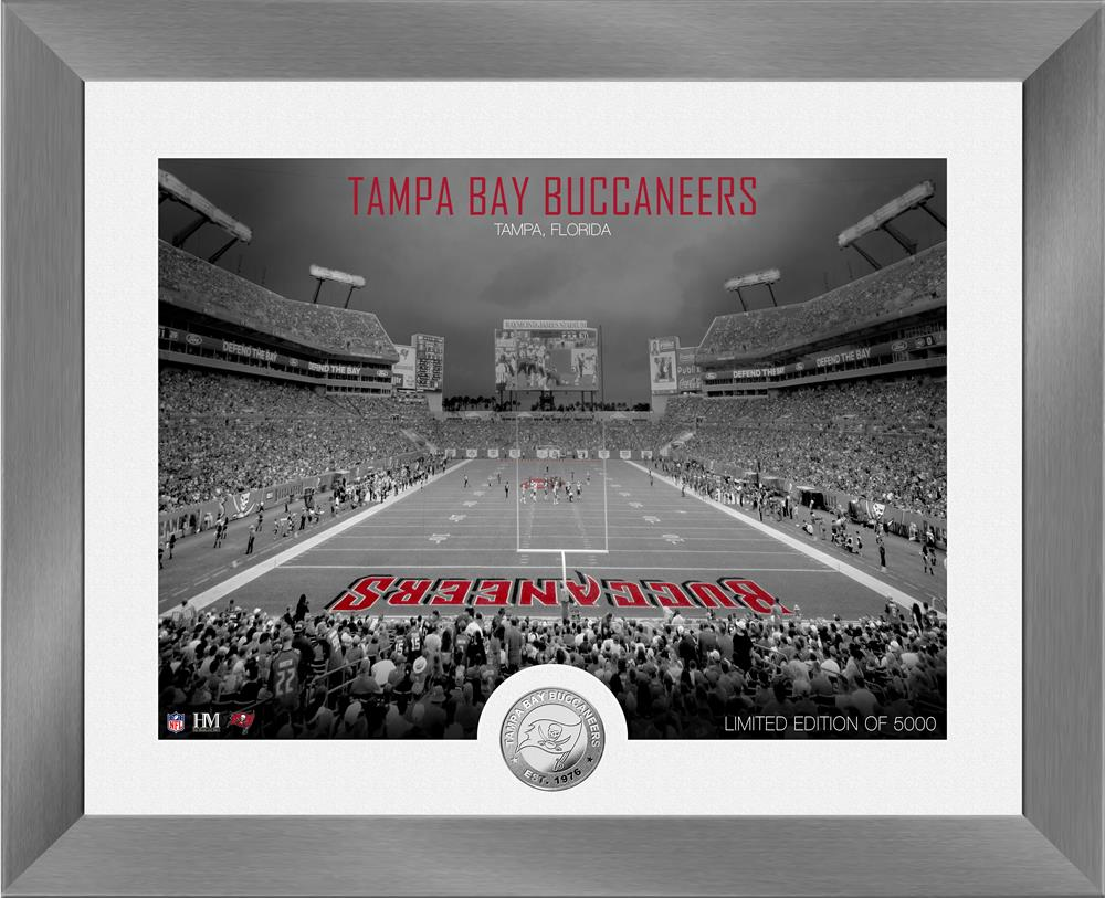 Tampa Bay Buccaneers Art Deco Stadium Silver Coin Photo Mint