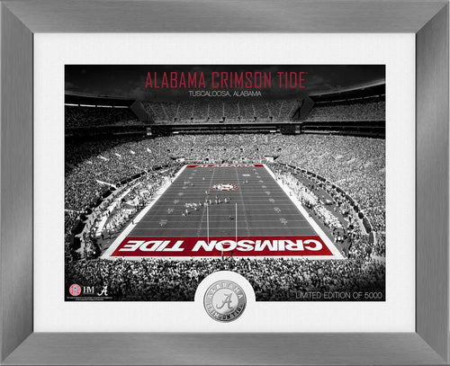 Alabama Crimson Tide Art Deco Silver Coin Photo Mint