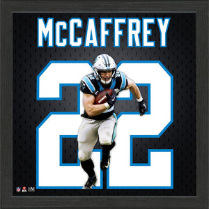 Christian McCaffrey Carolina Panthers Jersey Number Frame