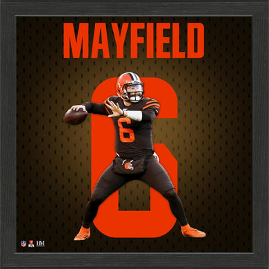 Baker Mayfield Cleveland Browns Jersey Number Frame