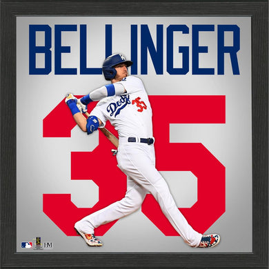 Cody Bellinger Los Angeles Dodgers Impact Jersey Framed Photo