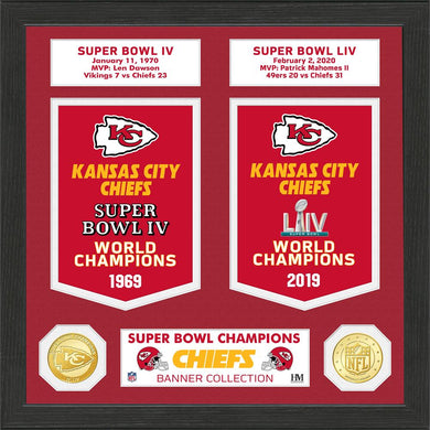 Kansas City Chiefs Super Bowl Banner Collection Bronze Coin Photo Mint