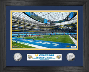 Los Angeles Chargers Inaugural Season Game Kickoff Silver Coin Photo Mint