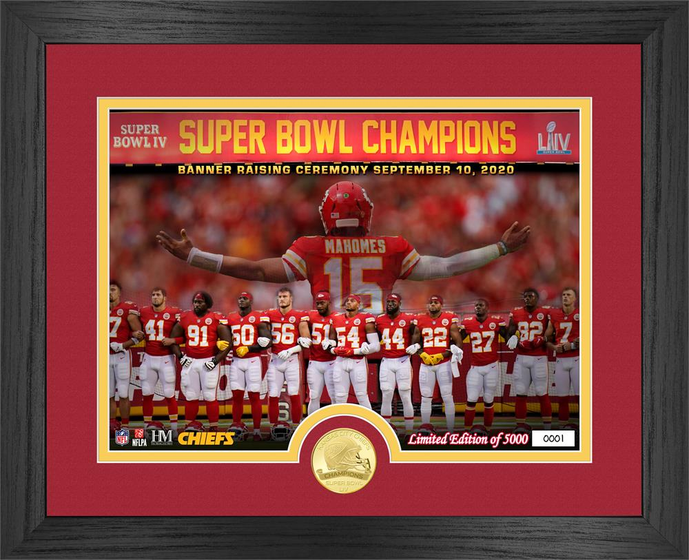 Kansas City Chiefs Super Bowl 54 Champions Banner Raising Bronze Coin Photo Mint