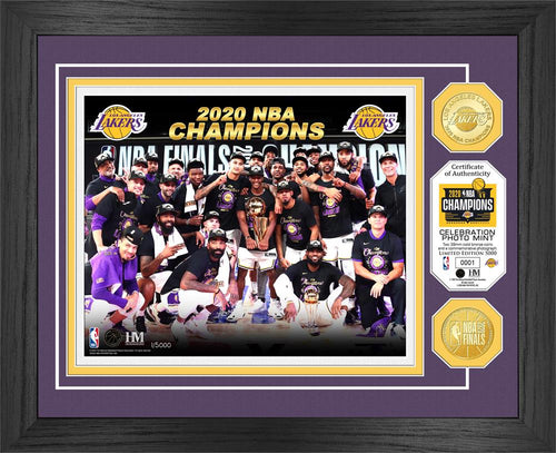 Los Angeles Lakers 2020 NBA Finals Champions Deluxe Gold Coin & Ticket Collection