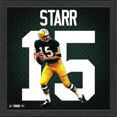 Bart Starr Green Bay Packers Impact Jersey Framed Photo