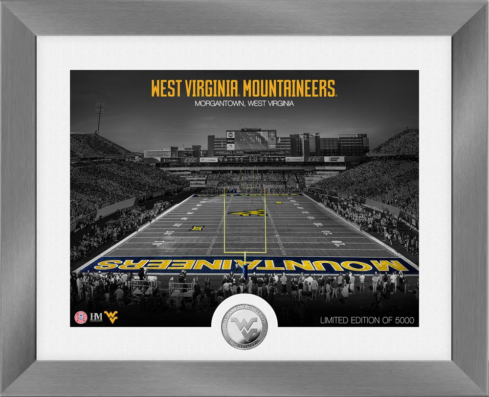 West Virginia Mountaineers Art Deco Silver Coin Photo Mint
